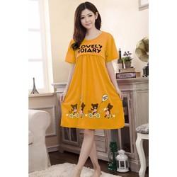 Váy bầu mặc nhà 2 In 1 - Bầu Và cho bé bú - Thun cotton