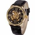 Đồng hồ Cơ NAm SEWOR lộ máy dây da cao cấp SED1686D