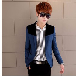 Áo vest nam phối màu 1 khuy phong cách