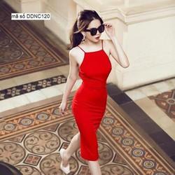 Đầm ôm body thiết kế hỡ lưng V quyến rũ như Ngọc Trinh DDNC120
