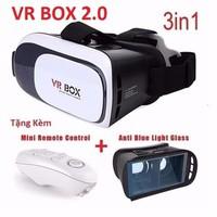 Combo Kính 3D VR BOX 2+ Tay Game+Kính chống lóa bảo vệ mắt.