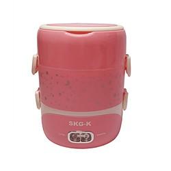 Hộp cơm hâm nóng inox cao cấp 3 ngăn SKG-K4216 đựng canh thoải mái