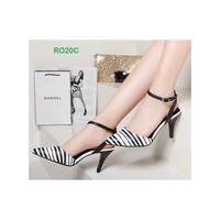 Giày cao gót sọc trắng đen ROSATA 40