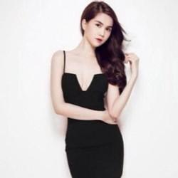 Đầm cúp ngực đẹp thiết kế 2 dây ôm body như Ngọc Trinh DOV130