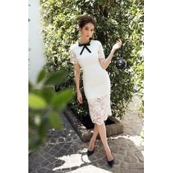 Đầm Ren Ngọc Trinh Cổ Nơ - K195