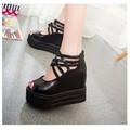 SD211D - Giày sandal độn đế dây chéo thời trang - Doni86.com