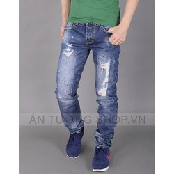 Quần jean phong cách bụi