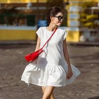Đầm suông trắng