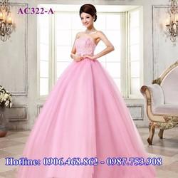 Áo cưới màu hồng cánh sen AC322-A