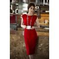 Váy đầm dự tiệc cưới thiết kế phối ren tuyệt đẹp như Ngọc Trinh X93