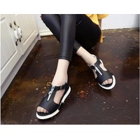 S025D - Giày sandal nữ khóa kéo cá tính