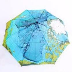 Ô dù che mưa nắng họa tiết bản đồ thế giới