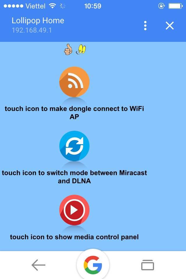 HDMI không dây ANYCAST cho điện thoại 3