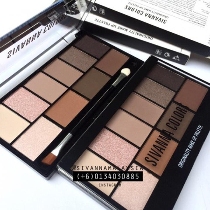 Phấn mắt SIVANNA COLORS originality make up palette 1