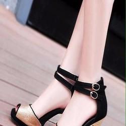 Giày cao gót nữ hở mũi kiểu quai hậu sành điệu thời trang GCN269