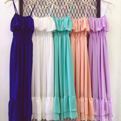 Đầm Maxi 2 dây bèo