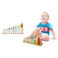 Bộ đồ chơi gỗ học toán thông minh đa màu sắc cho bé