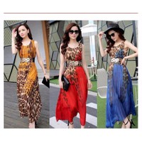 Đầm maxi leopard