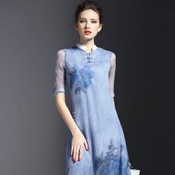 Hàng nhập cao cấp: Đầm xẻ tà cách tân sang trọng DS175