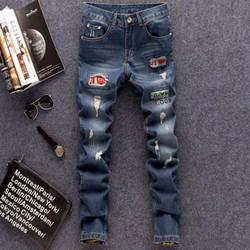 Quần jeans nam Hàn Quốc cá tính