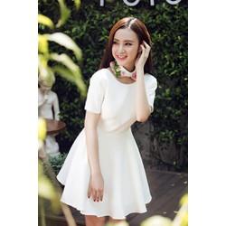 Đầm Xòe Tay Con Đẹp Như Phương Trinh- JR255