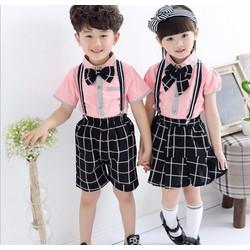 Bộ áo và quần học sinh cho bé 14-17kg - V289