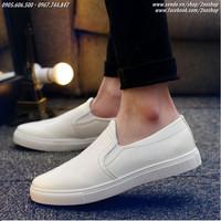 Giày slip on da bóng thời trang Hàn Quốc - Mã số: SH1604