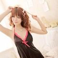 Váy Ngủ Đẹp Rẻ Lụa Nơ Hồng dễ Thương