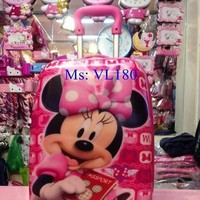 Va li kéo du lịch cho bé gái hình chuội Minnie đáng yêu VL180