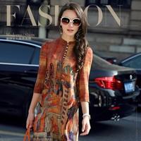 Đầm lụa retro AI Cập