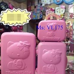Va li kéo du lịch hello kitty hình mặt kitty in 3d nổi bật VL175
