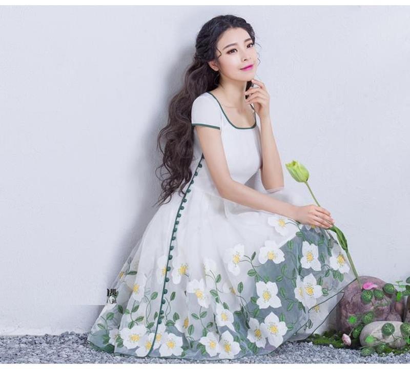 Đầm dạ hội nàng tiên Hoa Xuyến Chi cao cấp 9