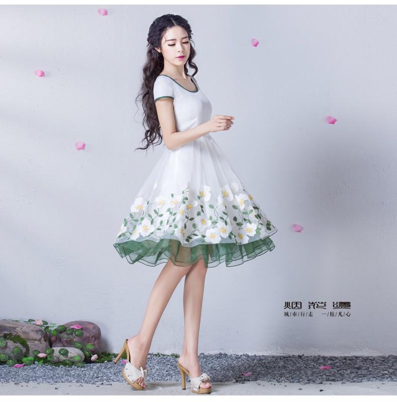 Đầm dạ hội nàng tiên Hoa Xuyến Chi cao cấp 5