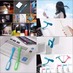 Combo đèn USB và Quạt 2 Cánh Rời Tiện Dụng