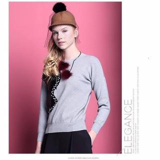Áo len nữ đính cườm cao cấp hàng nhập 8015102 - 8015102 thumbnail