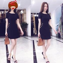 Đầm Ngọc Trinh sang trọng thiết kế váy chữ A đơn giản M505