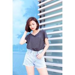 Quần short lưng cao Jean Thai