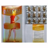 Thuốc giảm cân Baschi Quick Slimming Capsule cam Thái Lan hộp giấy.