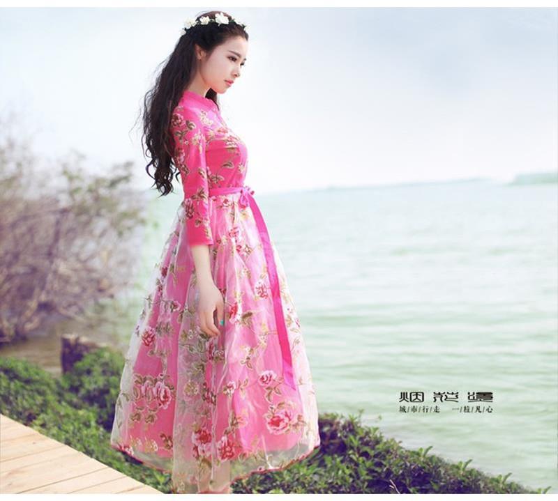Đầm dạ hội công chúa cổ tích hoa hồng 8