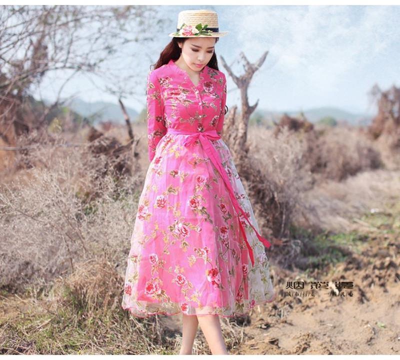Đầm dạ hội công chúa cổ tích hoa hồng 5