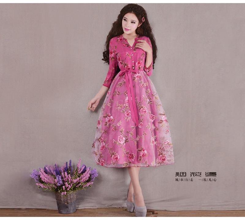 Đầm dạ hội công chúa cổ tích hoa hồng 3