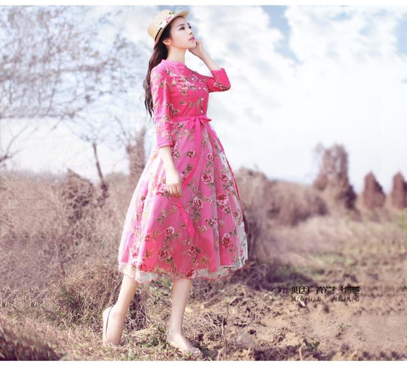 Đầm dạ hội công chúa cổ tích hoa hồng 7