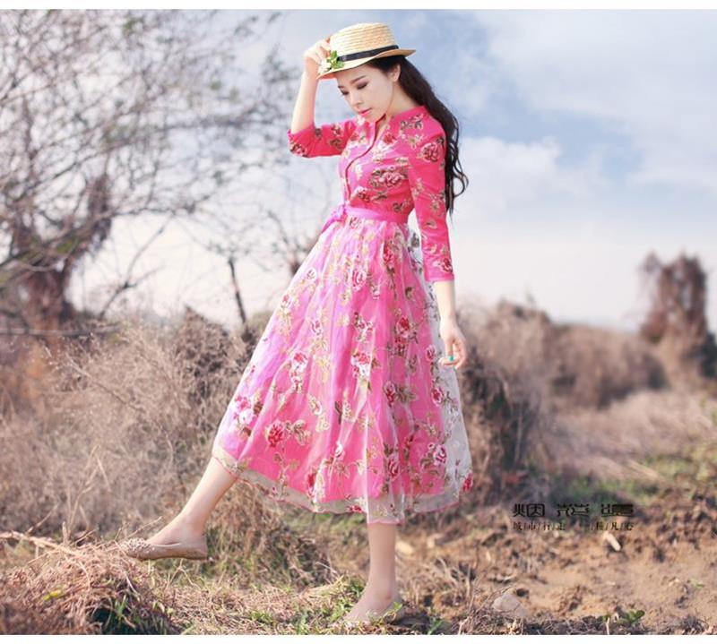 Đầm dạ hội công chúa cổ tích hoa hồng 6