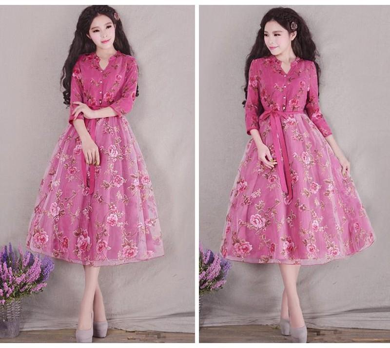Đầm dạ hội công chúa cổ tích hoa hồng 4