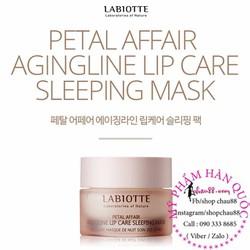 Mặt nạ ngủ môi Petal Affair Agingline  Lip Care Sleeping Mask