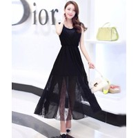 Đầm Maxi Phối Ren Chân Váy
