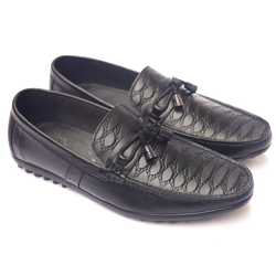 Giày lười nam da thật GL77 có nơ sành điệu