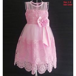 Đầm công chúa đính nơ cực xinh cho bé size 1-8