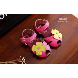 Sandal Đính Hoa Cho Bé Gái 1 - 5 Tuổi Kiểu Dáng Hàn Quốc Điệu Đà SD35