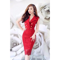 Đầm Vest Phối Ren Cao Cấp - có Size XXL